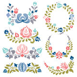 Floral ornaments and frames Stock Images