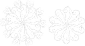 Floral Ornaments Line Art Royalty Free Stock Photo