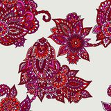 Floral ornaments pattern Stock Image