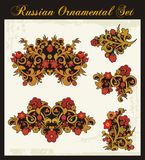 Floral Ornaments in Russian Traditional Style. Floral ornamental set in Russian traditional style Royalty Free Stock Photos