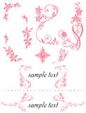 Floral ornaments set. Set of floral decoration.  Vector illustration Royalty Free Stock Image