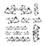 Floral ornaments set Royalty Free Stock Images