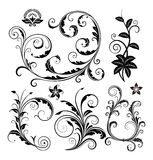 Floral ornaments set Royalty Free Stock Image