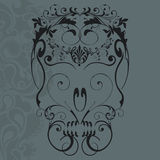 Floral ornaments skull Royalty Free Stock Image