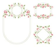Floral ornaments vignette and frames Royalty Free Stock Photos