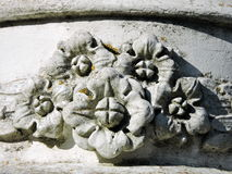 Floral ornaments on wall. Old floral ornaments on house wall, Lithuania Stock Image