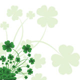 Floral ornate background to St. Patrick's Day Stock Photography