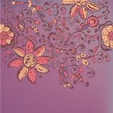 Floral ornate banner Stock Photo