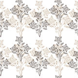 Floral ornate line seamless pattern Stock Photography