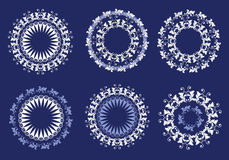 Floral ornate pattern set. Lace style Royalty Free Stock Photos