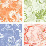 Floral ornate patterns Royalty Free Stock Images