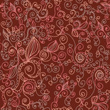 Floral ornate seamless pattern. With swirls Stock Image