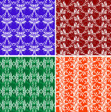 Floral and other backgrounds. Floral and other pattern ornate background illustrations Royalty Free Stock Photos