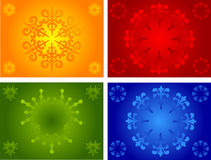 Floral and other backgrounds. Floral and other pattern ornate background illustrations Stock Images