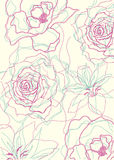Floral outlines pattern Stock Images