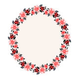 Floral oval frame Stock Images
