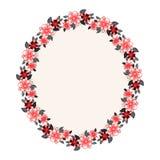 Floral oval frame Stock Images