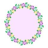 Floral oval frame Stock Image