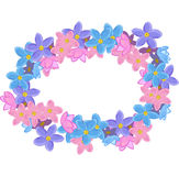 Floral oval wreath Stock Photography