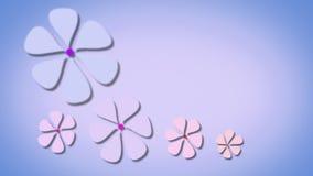 Floral púrpura animado stock de ilustración
