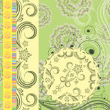 Floral page. For scrapbooking - illustration for your design Royalty Free Stock Photo