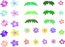 Floral Page Mix Royalty Free Stock Photos