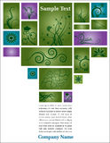 Floral page with text vector illustration