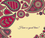 Floral paisley background Stock Photo
