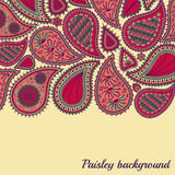 Floral paisley background with indian ormament Royalty Free Stock Images