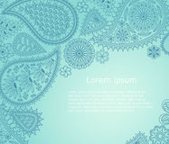 Floral paisley background with indian ormament and place for your text. Stock Images