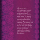 Floral  paisley background with place for your text. Royalty Free Stock Photos
