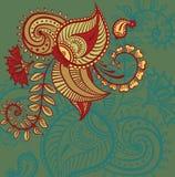 Floral paisley design stock illustration