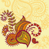 Floral paisley design Stock Image