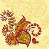 Floral paisley design royalty free illustration