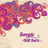 Floral paisley frame Royalty Free Stock Images