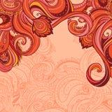 Floral paisley indian ornate frame royalty free illustration
