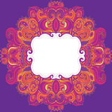Floral paisley indian ornate frame Royalty Free Stock Image