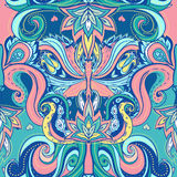 Floral paisley indian ornate seamless pattern Royalty Free Stock Photography