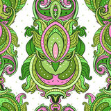 Floral paisley indian ornate seamless pattern Stock Photo