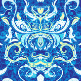 Floral paisley indian seamless pattern stock illustration