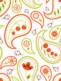 Floral paisley seamless. Floral seamless background with a paisley pattern Stock Photos