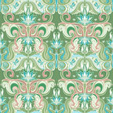 Floral paisley seamless pattern royalty free illustration