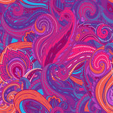 Floral paisley seamless pattern vector illustration