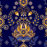 Floral Paisley seamless pattern Royalty Free Stock Images
