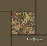 Floral pale pattern, cover frame background Stock Images
