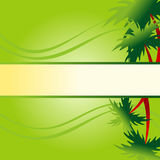 Floral palm background Stock Images