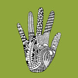 Floral palm, hand drawn zentangle style for our design Royalty Free Stock Image