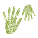 Floral palm, hand drawn zentangle style for our design Royalty Free Stock Images