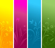 Floral panels Stock Photos
