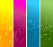 Floral panels Stock Photos